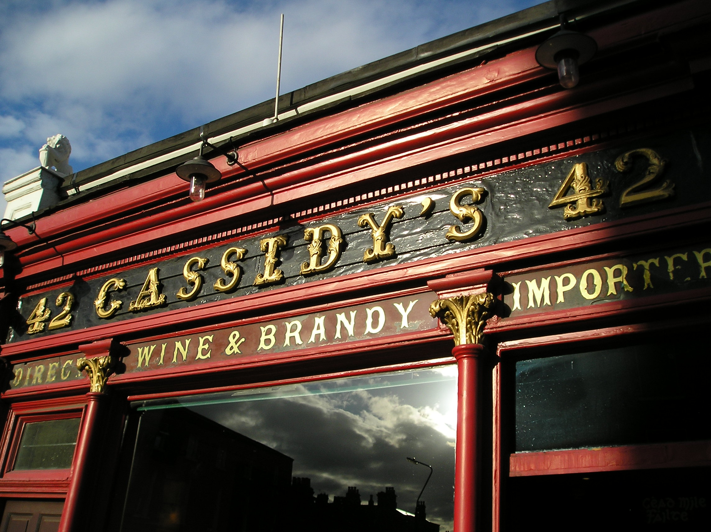 Cassidy's Pub at 42 Lower Camden Street Lower in Dublin which President Bill Clinton visited.