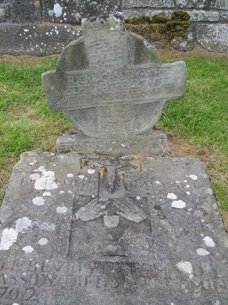 Gravestone for Cassidy priests on Devenish Island.