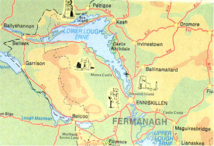 Lower Lough Erne In County Fermanagh where the Cassidys originated