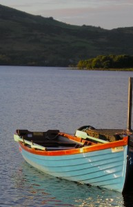 Cassidy's Bay along the Doorus Peninsula on Lough Corrib, near Cornamona, County Galway
