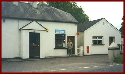 Brent Cassidy at former Ballycassidy Post Office, County Fermanagh